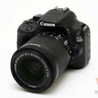Kredit dp 10% Canon EOS 100D Kit 18-55mm F3.5-5.6 IS STM - Cicilan tanpa kartu kredit