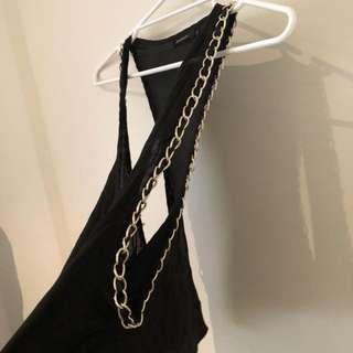 Black top with chains