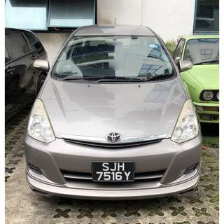 Grab Partner $65/day Toyota Wish 1.8A