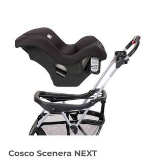 Baby car seat Cosco scenera next taxi friendly