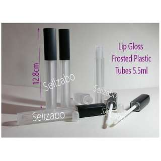 Refillable Lips Gloss Tint Bottles Clear Frosted Colour Refill Refilling Transfer Transferring See Through Beauty Cosmetics Makeup Face Facial Eye Eyebrows Serum Concentrate Apply