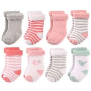 Hudson Baby Girl Socks (8 pairs)