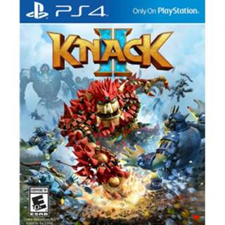 BRAND NEW Authentic PS4 Sony Knack 2 II Knack2PlayStation 4 Game CD Gaming Play Station New