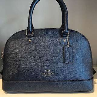 Authentic 💯 COACH Mini Sierra Satchel- Navy