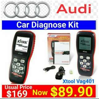 [Brand New] AUDI Car Self-Diagnostic and Error message reset Kit  by Xtool. (Brand new in box & sealed) . Usual Price:$ 169.90  Special Price:$ 89.90  Whatsapp 85992490 to collect today. Last set Left