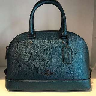 Authentic 💯 COACH Mini Sierra Satchel- Dark Teal
