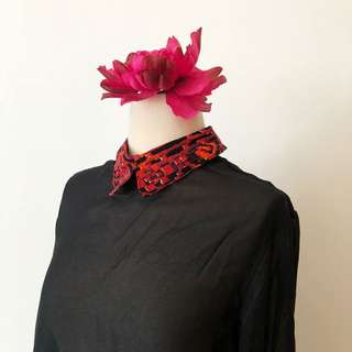 new abstract collar shirt