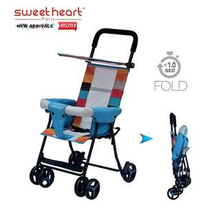 Sweet Heart Paris One Second Folding Portable Baby Buggy Stroller BG203 (Blue)