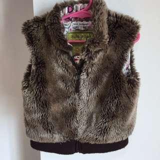 Marks & Spencer Autograph London fur vest brown girls