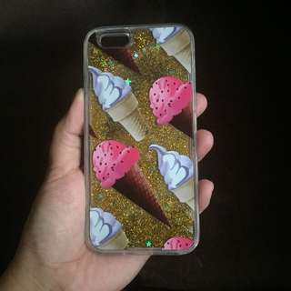 GLITTERY ICE CREAM CASE FOR IPHONE 6