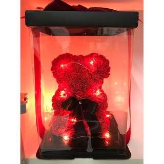 Rose Bear with LED Light