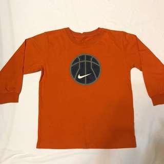 二手 古著 橘色 運動 Nike 七分袖上衣