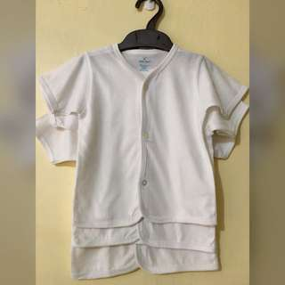 3-pc Plain White Shirt