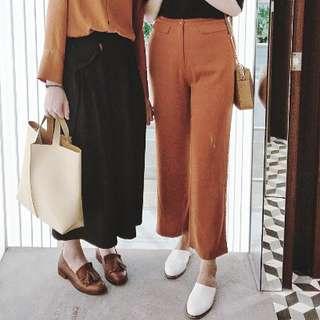 Meier.q 橘棕色前口袋寬褲