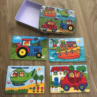 Brand New! Transport wooden puzzle