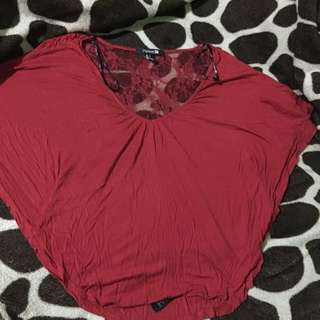 F21 Red Fashion Hearty Top