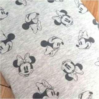 Cotton Stretch Fabric Disney Minnie Mouse Tela