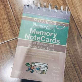 Mosby's Pharmacology Memory NoteCards 2nd Edition