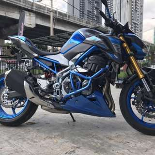 KAWASAKI Z900 ENGINE CRASH BAR (BLUE)