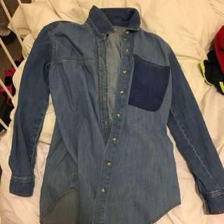 topshop jean shirt