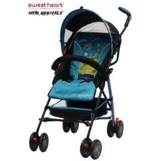 Sweet Heart Paris BG200 Stroller Buggy (Blue) with Back-Rest Reclining