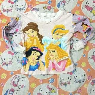 Princess pyjamas top 4T