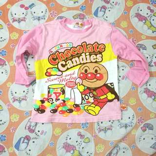Anpanman girl pyjamas top 4T