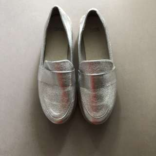 ASOS Silver platform shoes