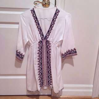Embroidered Tunic, Beach coverup