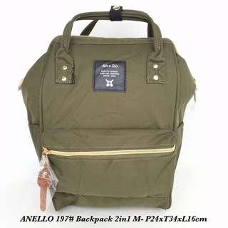 Tas import Wanita Anello Backpack 2in 1 M 197 - 1