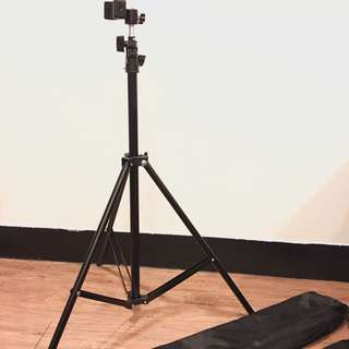 全新 最長2.1米 橫豎拍皆可 附背袋、手機夾 腳架 手機腳架 穩固腳架 出遊自拍神器