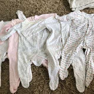 Sleepsuits onesies bundle