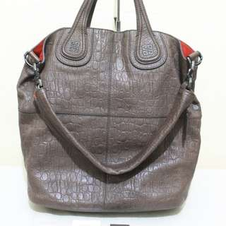 Authentic Givenchy Croc Stamp Nightingale Shopper / Tote Bag