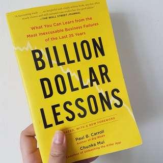 BILLION DOLLAR LESSONS PAPERBACK
