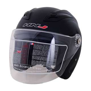 HNJ Open Face Helmet (Matte Black)