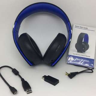SONY 第三代 Gold Wireless (7.1) Headset 無線金耳機(美國Outlet 貨) for PS4/PS3/PSVITA/PC/Mac (Brown Box) PS4-0736