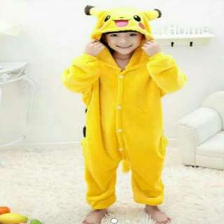 CLEARANCE SALES! Pikachu Hooded Jumpsuit Playsuit