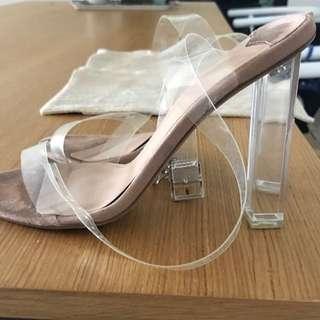 Tony Bianco Clear Heels