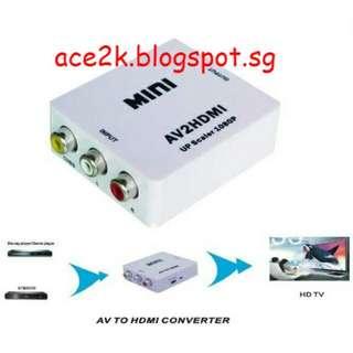 [BN] AV to HDMI Adapter / Converter / Upscaler (Brand New)