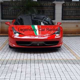 Ferrari 458 Available for rent now