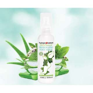 Deodorizing Foot Spray 100ml by HUMAN❤NATURE