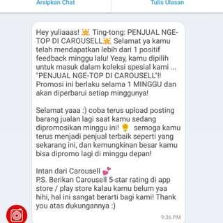 Terimakasih carousel 🙏