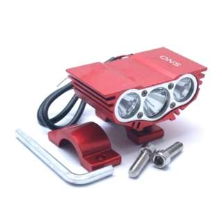 LAMPU TEMBAK ONS-2928 3 LED 30W RED