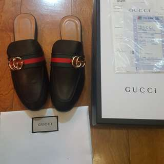 Gucci GG Princetown Leather Slippers Sandals