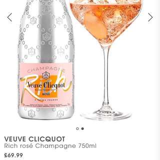 Limited edition-Veuve Clicquot Rich Rose Champagne