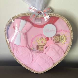 Retail $29.90! Max-Kool 9 Pieces Newborn Baby Gift Basket Set (Pink Color Suitable For Baby Girl)