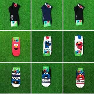 Authentic Korean Socks: Sesame Street