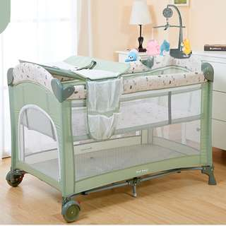 Multipurpose Foldable Playpen Baby Bed