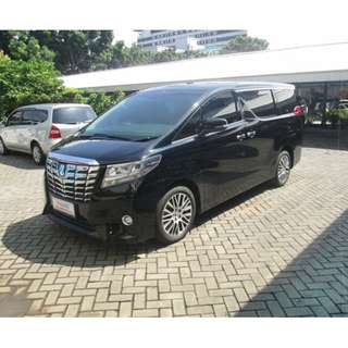 Alphard G 2.5	2015 AT HITAM