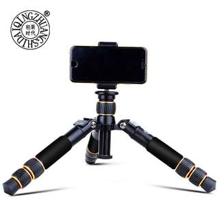 Beike Q-166A Mini Tripod + Ballhead (Light Weight and Compact Tabletop for Camera, Smartphone, Stabilizer)